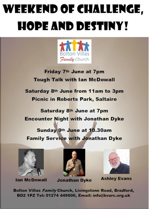 Tough Talk Weekend Flyer (Front)