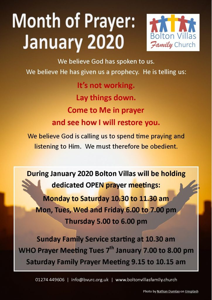 January 2020 Month of Prayer Poster