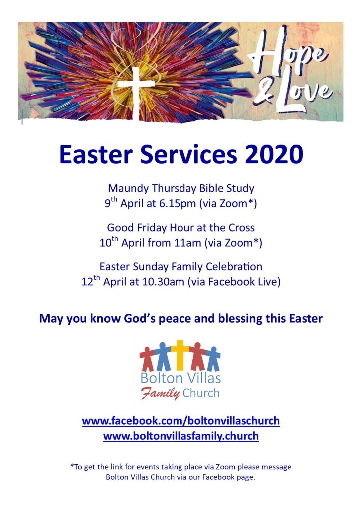 Easter Services 2020 Poster