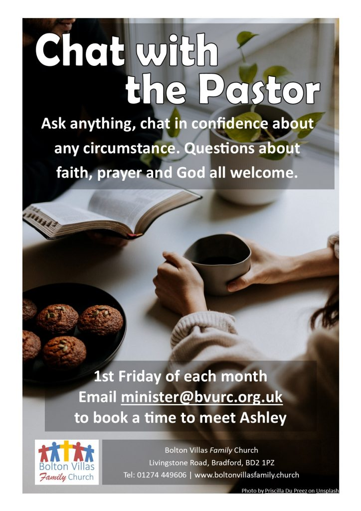 Chat with the Pastor poster